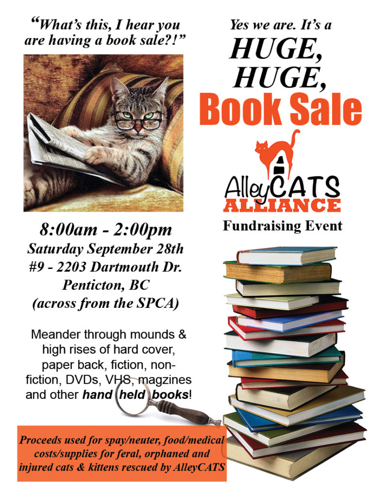 AlleyCATS Alliance book sale 2019